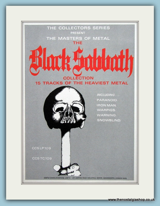 Black Sabbath Original Music Advert 1992 (ref AD3404)