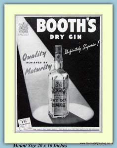 Booth's Dry Gin Original Advert 1941 (ref AD9220)