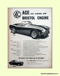 AC Ace & Aceca. Original Advert 1956 (ref AD6605)