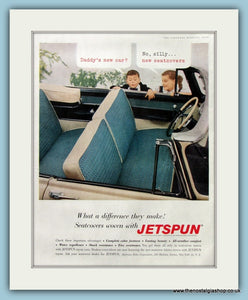 Jetspun Car Seat Covers Original Advert 1956 (ref AD8318)