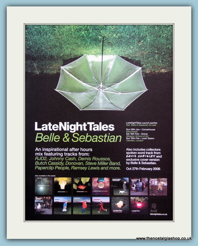 Belle & Sebastian Late Night Tales 2006 Original Advert (ref AD3299)