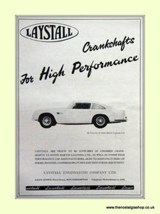Lagonda Laystall Crankshafts Original Advert 1964 (ref AD6738)