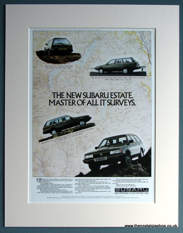 Subaru Estate 1982 Original Advert (ref AD1726)