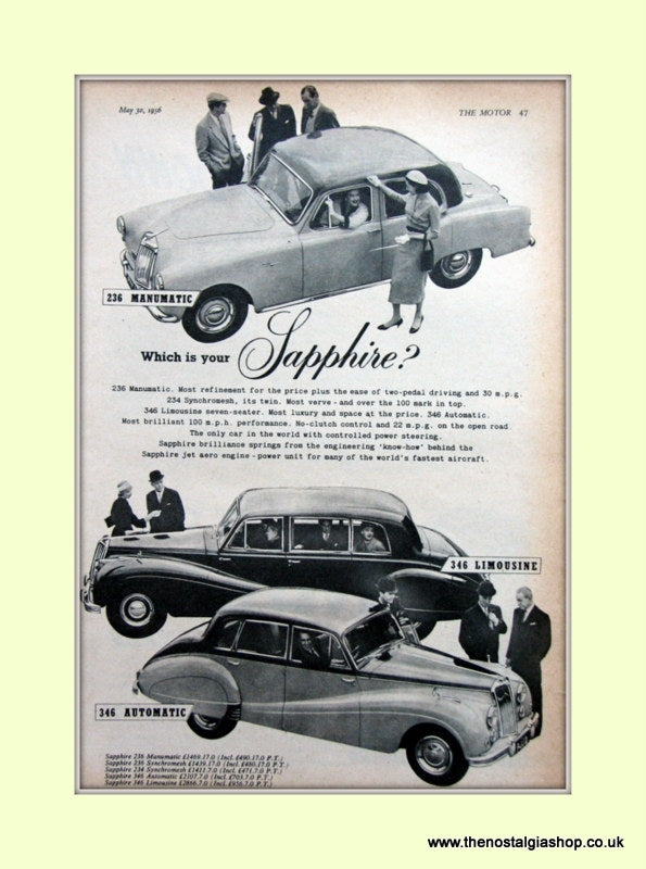 Armstrong Siddeley 236 Manumatic 346 Automatic Original Advert 1956 (ref AD6661)