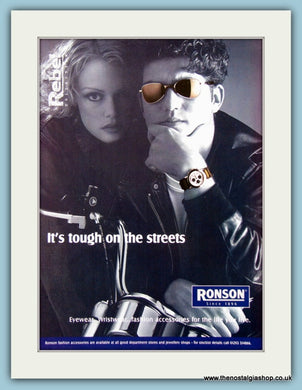 Ronson Glasses and Watches. Original Advert 1997 (ref AD2237)