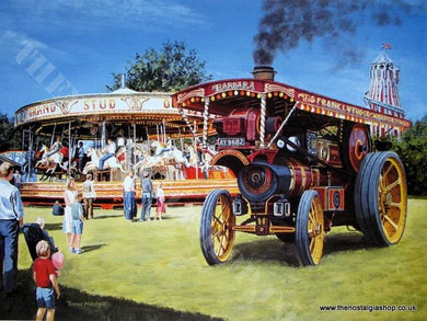 All The Fun Of The Fair. Traction Engine Print (ref N71)
