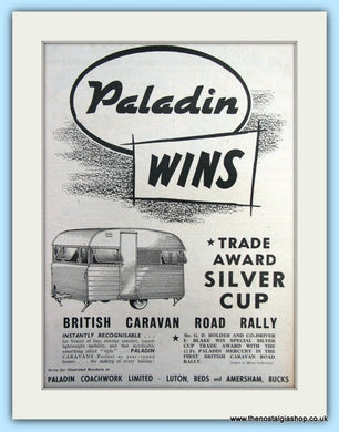 Paladin Trade Award Silver Cup Original Advert 1954 (ref AD6345)