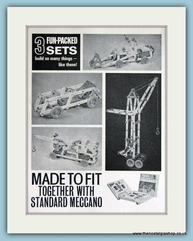 Meccano Sets 1966 Original Advert (ref AD2859)