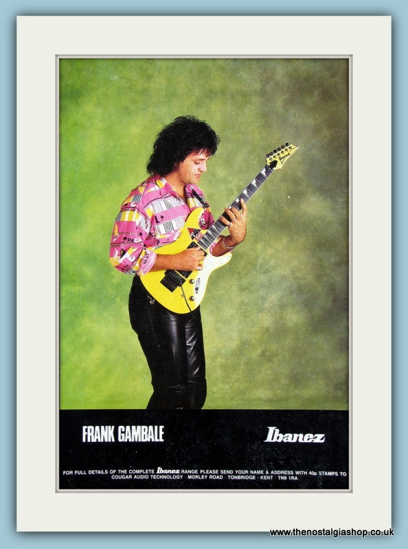 Ibanez Guitars with Frank Gambale. Original Advert 1990 (ref AD2219)