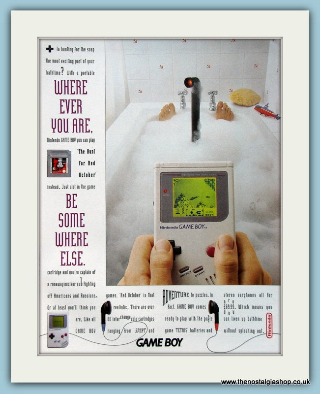 Nintendo Game Boy Original Advert 2003 (ref AD4033)
