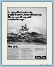 Load image into Gallery viewer, Royal Navy Pride. Set of 2 Original Adverts 1960's (ref AD6070)