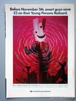 Young Persons Railcard Original Advert 1990 (ref AD6565)