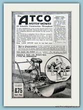 Load image into Gallery viewer, Atco Motor Mowers. Set of 2 Original Adverts 1920s (ref AD4631)