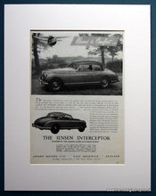 Load image into Gallery viewer, Jensen Interceptor 1954 Set Of 2 Original Adverts (ref AD1104)