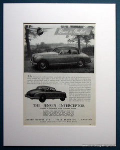 Jensen Interceptor 1954 Set Of 2 Original Adverts (ref AD1104)