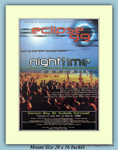 Eclipse Nightime Concerts Cornwall 1999 Original Advert (ref AD9054)