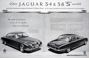 Jaguar. New 3.4 & 3.8 S Models. Original advert 1963 (ref AD1344)