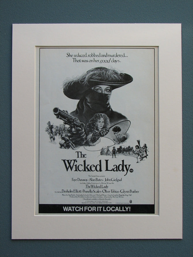 The Wicked Lady 1983 Original advert (ref AD638)