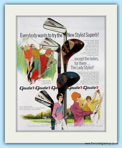 Goudie Stylist Superb Clubs. 2 x Original Adverts 1969 (ref AD4992)