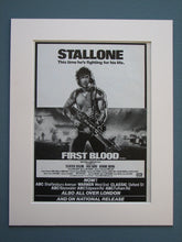 Load image into Gallery viewer, Rambo First Blood Part I and II Original adverts (ref AD724)