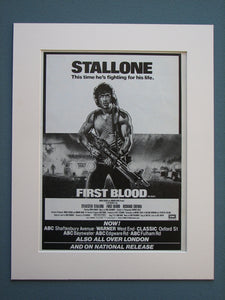 Rambo First Blood Part I and II Original adverts (ref AD724)
