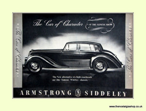 Armstrong Siddeley At The Geneva Show Original Advert 1952 (ref AD6677)