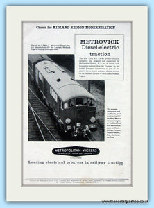 Metrovick Diesel-Electric Traction Original Advert 1959 (ref AD6522)