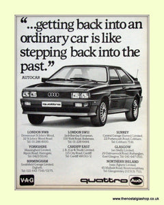 Audi Quattro Original Advert 1981 (ref AD6773)