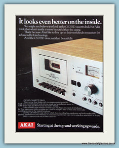 Akai Hi-Fi Original Advert 1980's (ref AD3869)