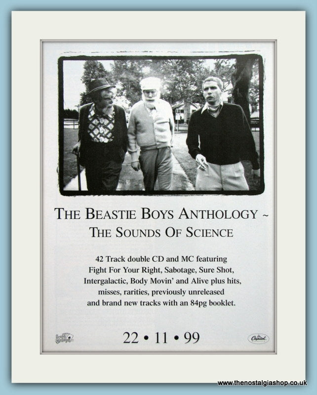 Beastie Boys Anthology The Sounds Of Science 1999 Original Music Advert (ref AD3452)