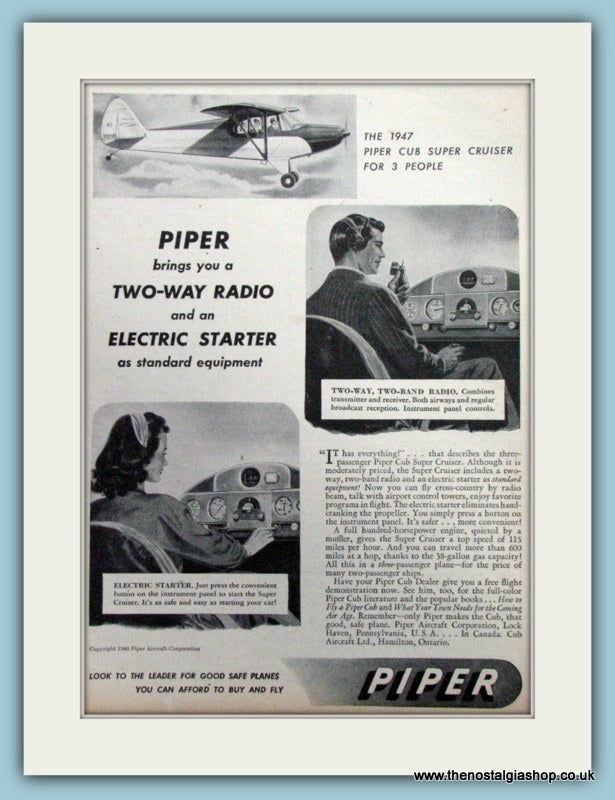 Piper Two Way Radio. Original Advert 1947 (ref AD4236)