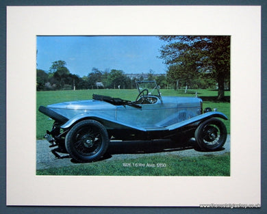 Alvis 12/50 1.6 Litre 1926. Colour Photo Print 1973 (ref AD1332)