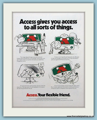 Access, Your Flexible Friend. Original Advert 1979 (ref AD3678)