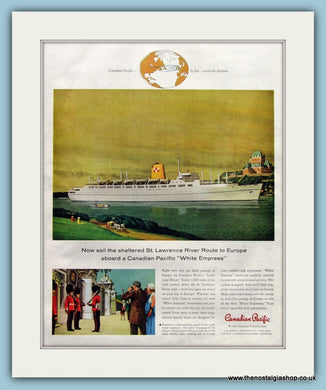 Canadian Pacific Steamship Original Advert 1958 (ref AD8244)