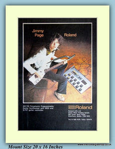 Roland GR-700 Guitar Synthesizer With Jimmy Page Original Advert 1984 (ref AD9084)