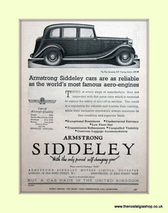 Armstrong Siddeley Seventeen Touring Saloon Original Advert 1936 (ref AD6665)