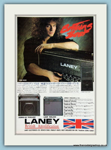 Laney British Amps with Vinnie Moore. Original Advert 1990. (ref AD2197)