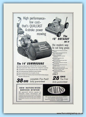 Qualcast Commodore. Original Advert 1961 (ref AD4649)