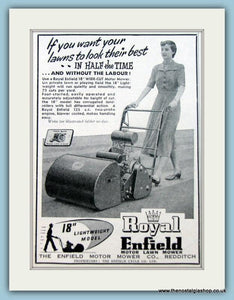 Royal Enfield Lawnmowers. Set of 4 Original Adverts 1950s (ref AD4620)