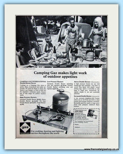 Camping Gaz For Cooking Original Advert 1960's (ref AD6365)
