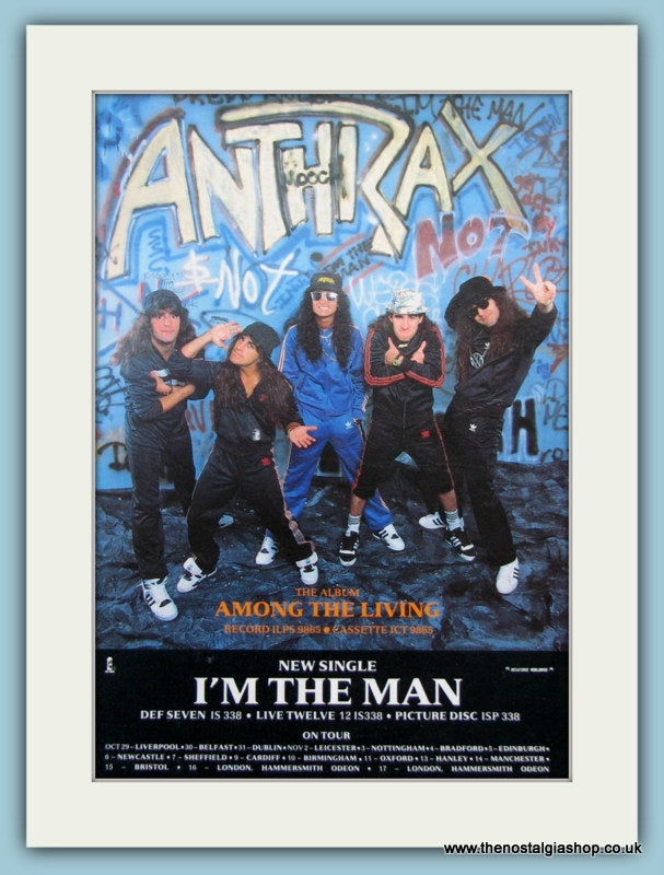 Anthrax I'm The Man. Original advert 1987 (ref AD3042)