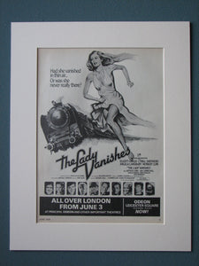 The Lady Vanishes 1979 Original advert (ref AD505)