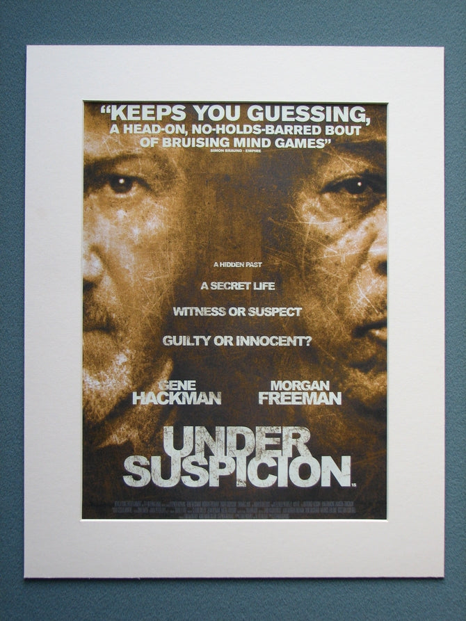 Under Suspicion Original Advert 2001 (ref AD759)