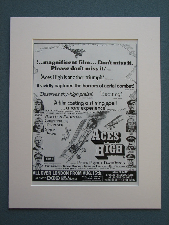 Aces High 1976 Original advert (ref AD731)