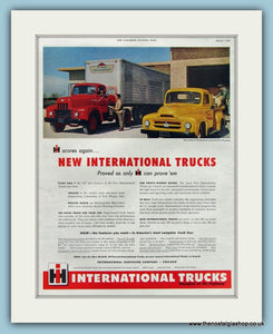 International Trucks Pickup & Roadliner Original Advert 1953 (ref AD8215)
