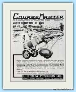 Coursemaster Golf Trolley. Original Advert 1969 (ref AD4762)
