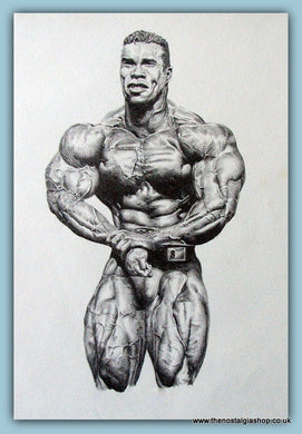 Kevin Levrone, Top IFBB Bodybuilder. Limited edition print