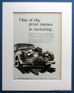 Alvis 1953 Original Advert (ref AD1464)