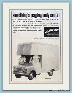 Arlington Crystal Bedford Van Original Advert 1966 (ref AD2974)