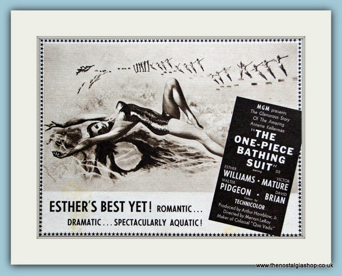 The One Piece Bathing Suit, 1953 Original Advert (ref AD3203)